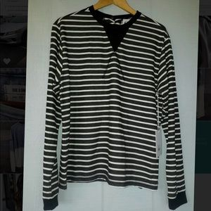 NWT free people striped long sleeve tee size small